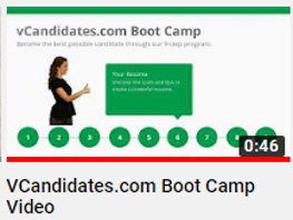 vCandidates.com - Our 9-step Boot Camp provides key tips and best practices in preapring you for the job search process.