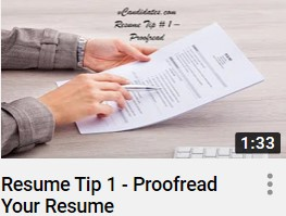 vCandidates.com - Proofreading your resume is important simply because it's the hiring manager's first impression of you.