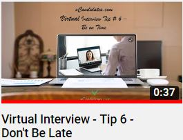 vCandidates.com - For virtual job interviews, be on time. Be early and be prepared.