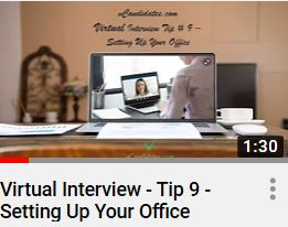 vCandidates.com - Setting up your virtual office should allow you to be focused for your work and interviews.