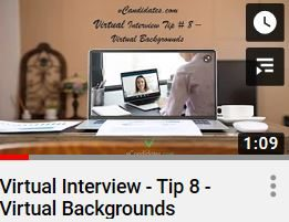 vCandidates.com - For virtual job interviews, be careful with using virtual backgrounds.